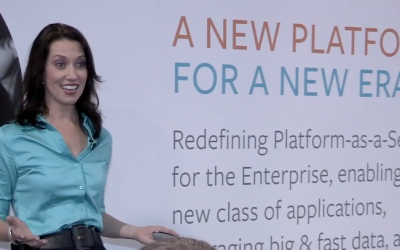 Julia Reilly presents for repeat client Pivotal at VMWorld